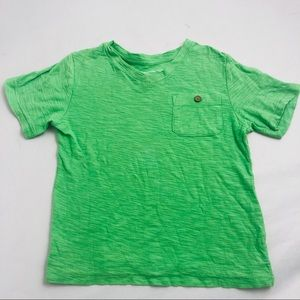 GAP bright green v-neck burnout t-shirt